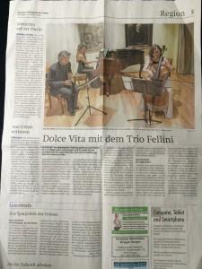 Trio Fellini, January 2016, Kilchberg